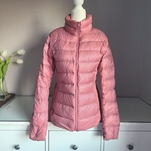 Uniqlo Dusty Pink Down Puffer Jacket